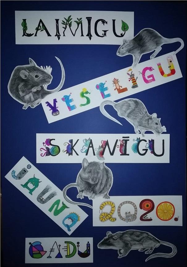 Vizuāli plastiskās mākslas programmas audzēkņu un sagatavošanas bērnu sveiciens JAUNAJĀ GADĀ!