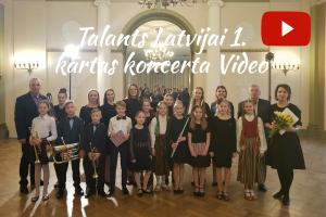 Jaunpiebalgas Mūzikas un mākslas skola konkursa-koncertcikla Talants Latvijai 1. kārtas koncertā